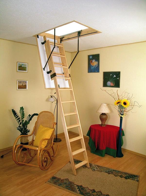 Лестницы фото чердачные